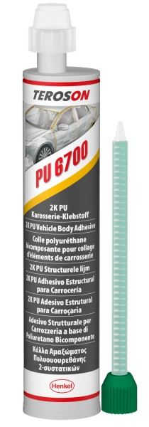 TEROSON PU 6700 A, 2K-PU-Strukturklebstoff, 310 ml Kartusche