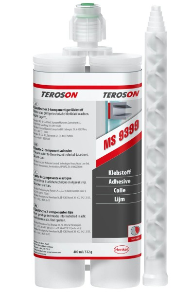 TEROSON MS 9399, SMP-Klebstoff, weiß, 400 ml Doppelkartusche