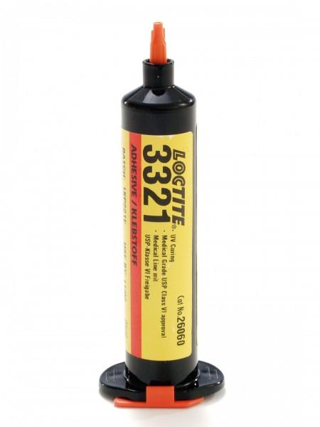 LOCTITE AA 3321, UV-härtender Sofortklebstoff auf Acrylatbasis, 25 ml Spritze