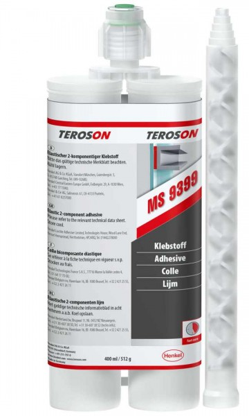 TEROSON MS 9399, SMP-Klebstoff, schwarz, 400 ml Doppelkartusche