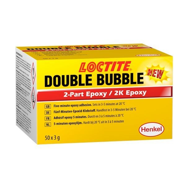 LOCTITE DOUBLE BUBBLE Strukturklebstoff (2K Epoxy), 50x3 g Display Karton